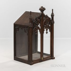 Gothic-style Carved Cabinet