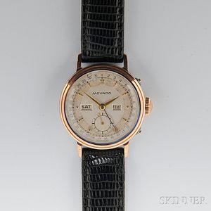 Movado, Vintage Gentleman's Triple Complication Calendar Wristwatch