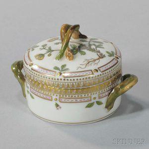 """Four Royal Copenhagen """"Flora Danica"""" Porcelain Covered Cups"""