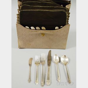 "Oneida ""King Cedric"" Pattern Sterling Silver Partial Flatware Service"