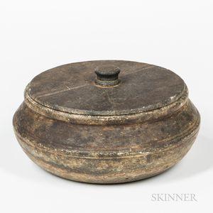 Covered Soapstone Sugar Bowl