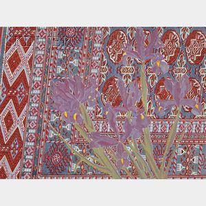 Laura Grosch (American, b. 1945)      Iris on Bokhara