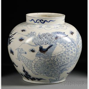 Large Dragon Jar