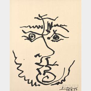 After Pablo Picasso (Spanish, 1881-1973)      Visage