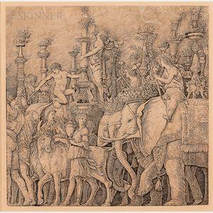 After Andrea Mantegna (Italian, 1431-1506), Probably by Giovanni Antonio da Brescia (Italian, c. 1460-c. 1525) Plate from The Triumph o