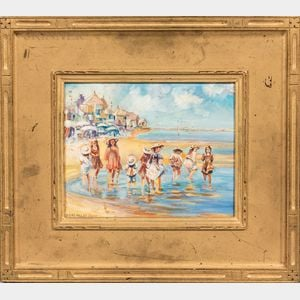 Susan Miller Chase (American, 1868-1948)      Children at the Beach