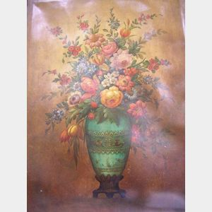 Continental School, 19th/20th Century,   Still Life with Flowers