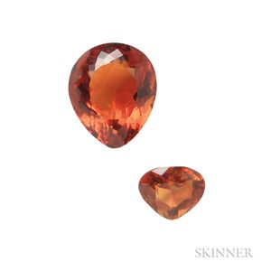 Two Unmounted Pear-shape Citrines