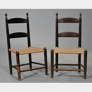 Pair of Shaker Maple Children's Chairs
