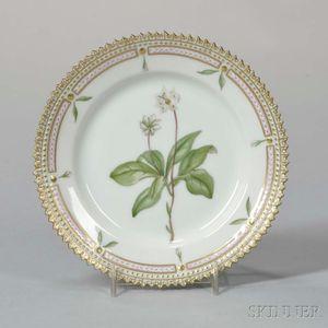 "Twelve Royal Copenhagen ""Flora Danica"" Porcelain Side Plates"