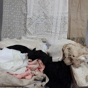 Collection of Victorian, 1920s, and Vintage Table Linens, Lace, and Domestic Linens.