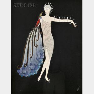 Romain de Tirtoff, called Erté (Russian, 1892-1990)      The DIVA   Suite/A Pair of Prints