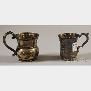 Two Coin Silver Mugs