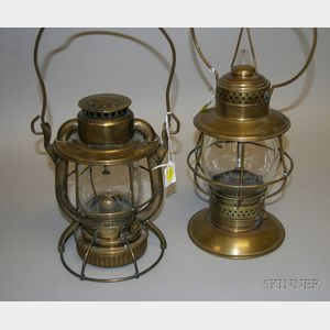 Two Deitz Brass Lanterns