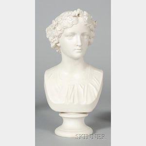 Copeland Parian May Queen Bust