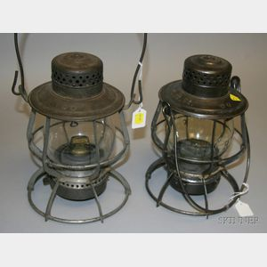 "Two Keystone ""Casey"" Tin Lanterns"