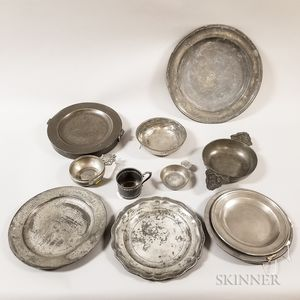 Group of Pewter Table Items