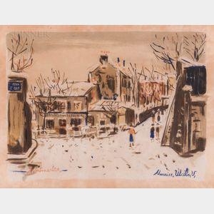 Maurice Utrillo (French, 1883-1955)      Le Lapin Agile, Vue de Montmartre 5