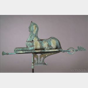 Molded Sheet Copper Sphinx Weather Vane