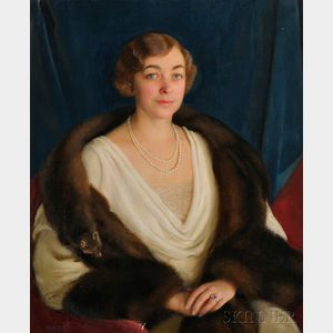 William McGregor Paxton (American, 1869-1941)      Portrait of Deborah Norris (Brock) Bent