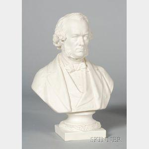 Copeland Parian Bust of Richard Cobden