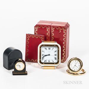 Cartier, Van Cleef, and Bulgari Desk Clocks