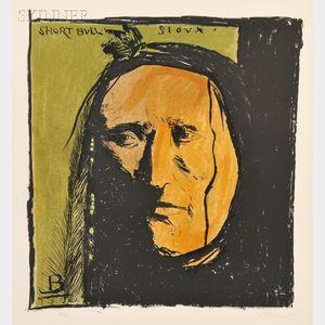 Leonard Baskin (American, 1922-2000)      Short Bull Sioux