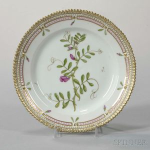 "Twelve Royal Copenhagen ""Flora Danica"" Porcelain Bread Plates"