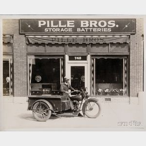 Fifty-five Vintage Harley Davidson Motorcycle Photographs