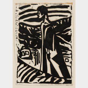 Fortuna Brulez-Mavromati (German, 1893-1989)      Walking Figure
