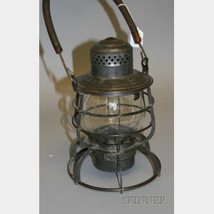 Long Island Railroad Tin Lantern