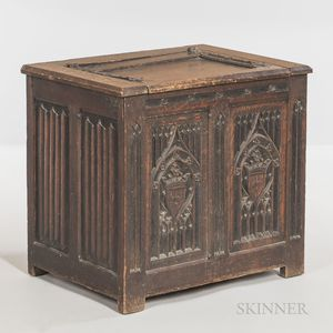 Gothic-style Carved Oak Coffer