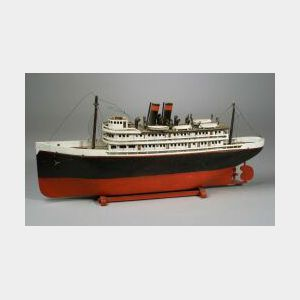 Folk Art Model Of An Ocean Liner