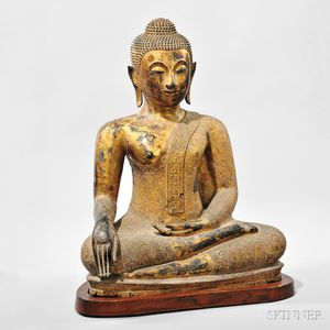 Gilt-lacquered Bronze Buddha Statue