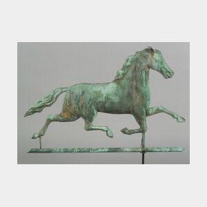 Molded Copper and Zinc Ethan Allen Running Horse Weathervane