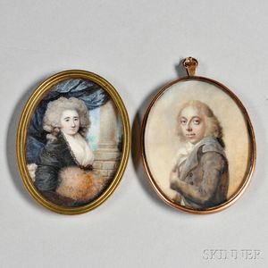 Pair of Early Portrait Miniatures