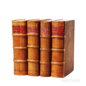 Bible, Latin. Biblia Latina cum postillis Nicolai de Lyra et expositionibus Guillelmi Britonis in omnes prologos S. Hieronymi et additi