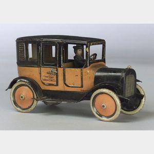 """Lenox 530 """"American Yellow Cab Co."""" Tin Taxi"""