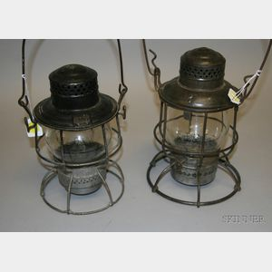 Two Erie Tin Lanterns