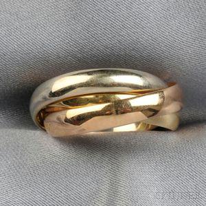 """18kt Gold """"Trinity"""" Ring, Les Must de Cartier"""
