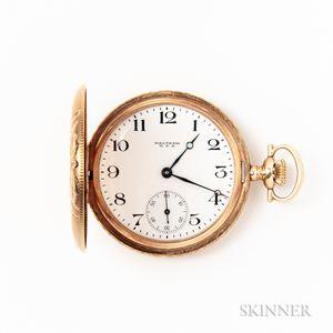 Waltham 14kt Gold Hunter-case Pocket Watch