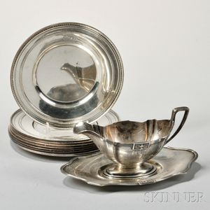 Ten Pieces of Gorham Sterling Silver Tableware