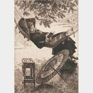 James Jacques Joseph Tissot (French, 1836-1902)      Le hamac