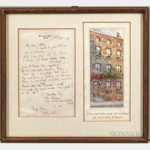 Ruskin, John (1819-1900) Autograph Letter Signed, 25 October [1871].