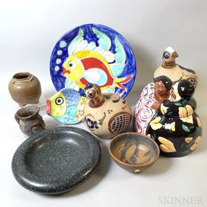 Group of Studio Pottery Items