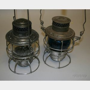 Two Tin Adams & Westlake Lanterns