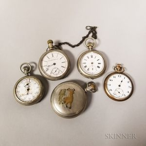 Five Open-face Watches