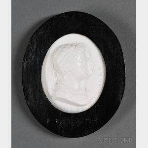 James Tassie White Paste Commemorative Portrait Medallion
