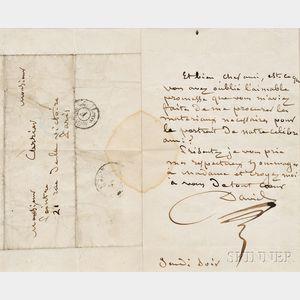 David, Jacques-Louis (1748-1825) Autograph Letter Signed, undated.