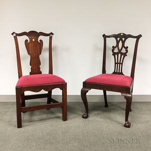 Two Chippendale Mahogany Side Chairs